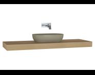 61003 - Memoria Black & White Thick Counter, 160 cm, Patterned Oak