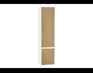 61008 - Memoria Black & White Tall Unit, 40 cm, Matte White, right