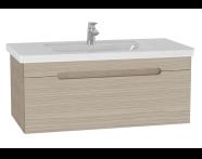 61020 - Folda Washbasin Unit, 100 cm, with vanity washbasin, Oak