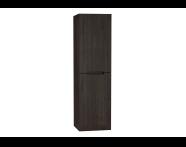 61032 - Folda Tall Unit, 45 cm, Grey Oak Decor, right