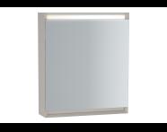 61236 - Frame Mirror Cabinet, 60 cm, Matte White, left