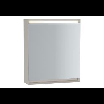 Frame Mirror Cabinet, 60 cm, Matte White, left