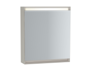 61241 - Frame Mirror Cabinet, 60 cm, Matte Taupe, right