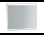 61242 - Frame Mirror Cabinet, 80 cm, Matte White