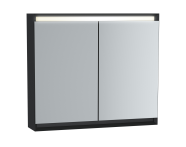 61243 - Frame Mirror Cabinet, 80 cm, Matte Black