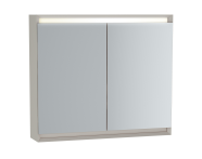 61244 - Frame Mirror Cabinet, 80 cm, Matte Taupe