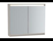 61244 - Frame Mirror Cabinet, 80 cm, Matte Taupe