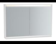 61245 - Frame Mirror Cabinet, 100 cm, Matte White