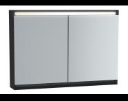 61246 - Frame Mirror Cabinet, 100 cm, Matte Black