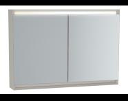 61247 - Frame Mirror Cabinet, 100 cm, Matte Taupe