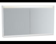 61248 - Frame Mirror Cabinet, 120 cm, Matte White