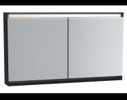 61249 - Frame Mirror Cabinet, 120 cm, Matte Black