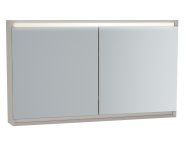 61250 - Frame Mirror Cabinet, 120 cm, Matte Taupe