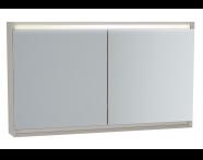 61250 - Frame Mirror Cabinet, 120 cm, Matte Taupe
