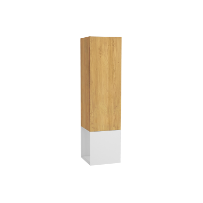 Frame Tall Unit, 40 cm, with open box, Matte White, left