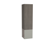 61253 - Frame Tall Unit, 40 cm, with open box, Matte Taupe, left