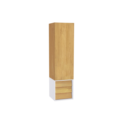 Frame Tall Unit, 40 cm, with drawer unit, Matte White, left