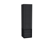 61258 - Frame Tall Unit, 40 cm, with drawer unit, Matte Black, left