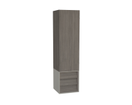 61259 - Frame Tall Unit, 40 cm, with drawer unit, Matte Taupe, left