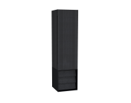 61261 - Frame Tall Unit, 40 cm, with drawer unit, Matte Black, right