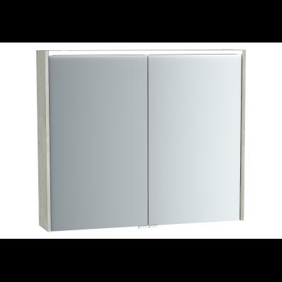 Metropole Mirror Cabinet, 80 cm, Silver Oak