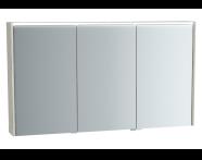 61295 - Metropole Mirror Cabinet, 120 cm, Silver Oak
