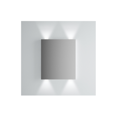 Brite Mirror, 60 cm, illuminated from top and bottom
