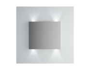 61302 - Brite Mirror, 80 cm, illuminated from top and bottom