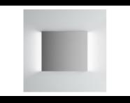 61307 - Brite Mirror, 80 cm, illuminated from sides