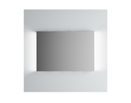 61308 - Brite Mirror, 100 cm, illuminated from sides