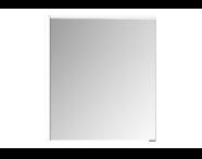 61338 - Premium Mirror Cabinet, 60 cm, Moka Oak, left