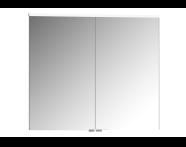 61344 - Premium Mirror Cabinet, 80 cm, Moka Oak
