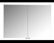 61347 - Premium Mirror Cabinet, 100 cm, Moka Oak