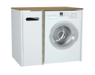 61364 - Sento Laundry Unit, 105 cm, Matte White, left