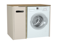 61365 - Sento Laundry Unit, 105 cm, Matte Cream, left