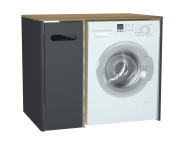 61366 - Sento Laundry Unit, 105 cm, Matte Anthracite, left