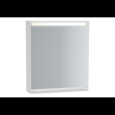 Frame Mirror Cabinet 60 cm, Matte White, Left