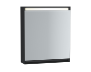 61405 - Frame Mirror Cabinet 60 cm, Matte Black, Left