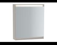 61406 - Frame Mirror Cabinet 60 cm, Matte Taupe, Left