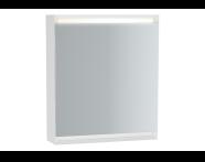 61407 - Frame Mirror Cabinet 60 cm, Matte White, Right