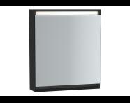61408 - Frame Mirror Cabinet 60 cm, Matte Black, Right