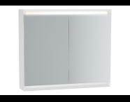 61410 - Frame Mirror Cabinet 80 cm, Matte White