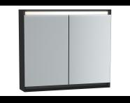 61411 - Frame Mirror Cabinet 80 cm, Matte Black