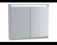 61412 - Frame Mirror Cabinet 80 cm, Matte Taupe