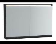 61414 - Frame Mirror Cabinet 100 cm, Matte Black