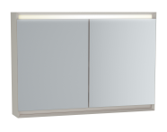 61415 - Frame Mirror Cabinet 100 cm, Matte Taupe