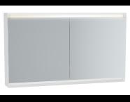 61416 - Frame Mirror Cabinet 120 cm, Matte White