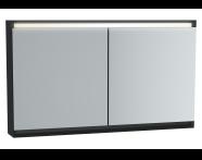 61417 - Frame Mirror Cabinet 120 cm, Matte Black