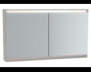 61418 - Frame Mirror Cabinet 120 cm, Matte Taupe