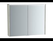 61419 - M-Line Infinit Mirror cabinet, 80 cm, Silver oak